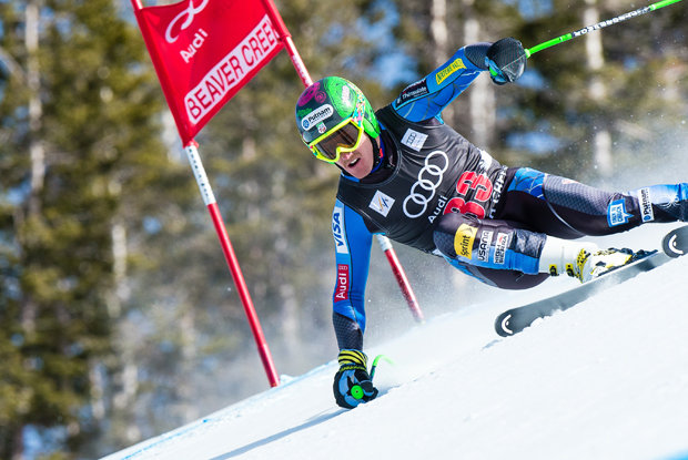 Ted Ligety racing at Beaver Creek.