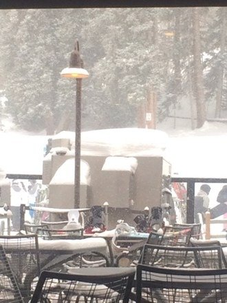 I'm in breck right now and it is white out conditions and not as windy as it was supposed to be