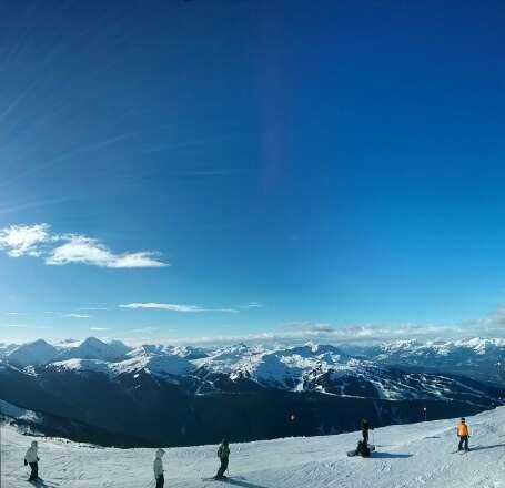 Stay in the Alpine and it's all good. Below Rendezvous on Blackcomb is pretty icy