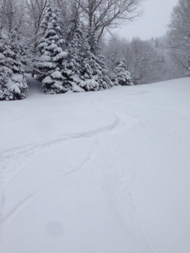 Deep powder and fresh tracks on Monday.