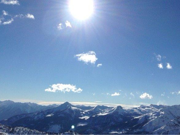 Alle 12 è uscito un sole spettacolare! Bella neve!?!
