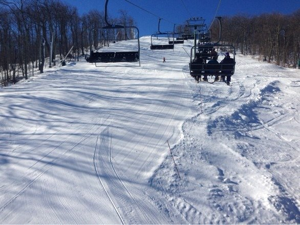 Not too cold at all.   No lines.  Good snow.