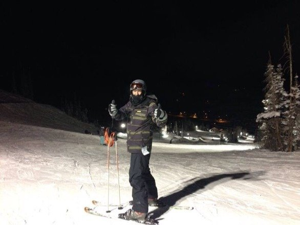 Awsome night skiing!!
