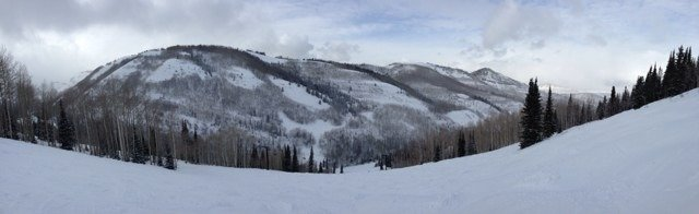 Glory Hole run on Monday at Park City. Great conditions.