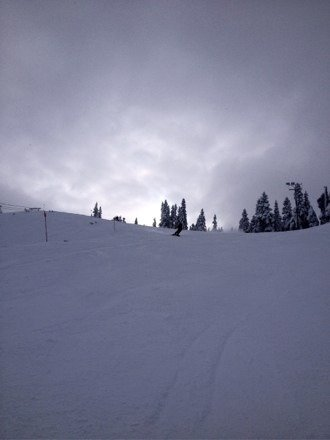 Good day for snowboarding. Fresh powder. Awesome weather and fun way to spend the day.