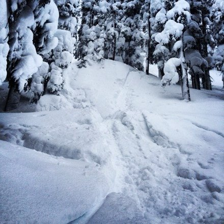 Never seen this much powder before! Epic!