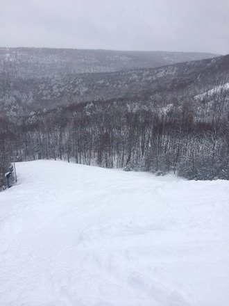 Powder day today!  Little icy between bumps on white lightning but the tree skiing in insane.