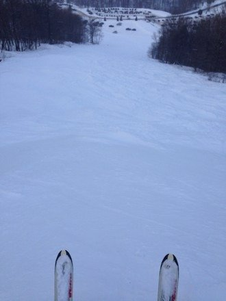 Great skiing today!!!  Not much for lines today...