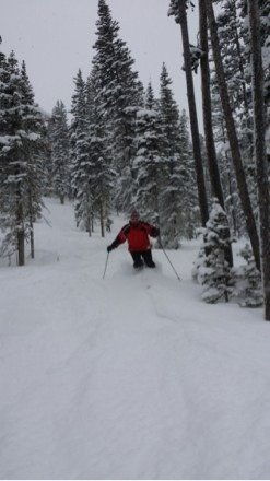 OMG , what an amazing powder day! Ripping it up on Congo... Freshie's EVERYWHERE!