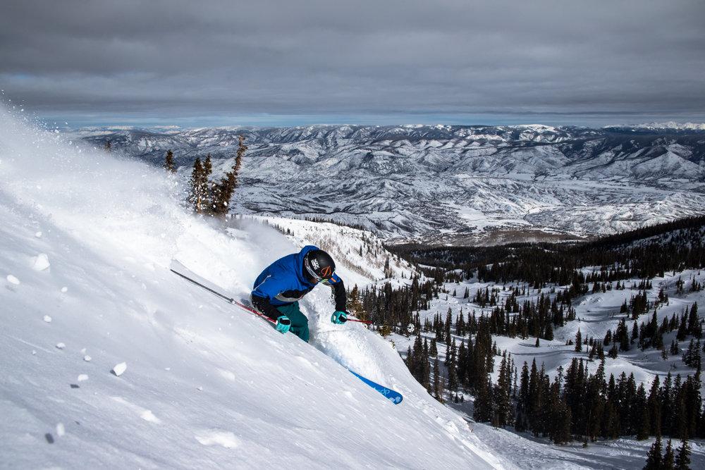 Snowmass Mountain is huge at 3,332 acres. G.R. Fielding finds another hidden pocket. - ©Liam Doran