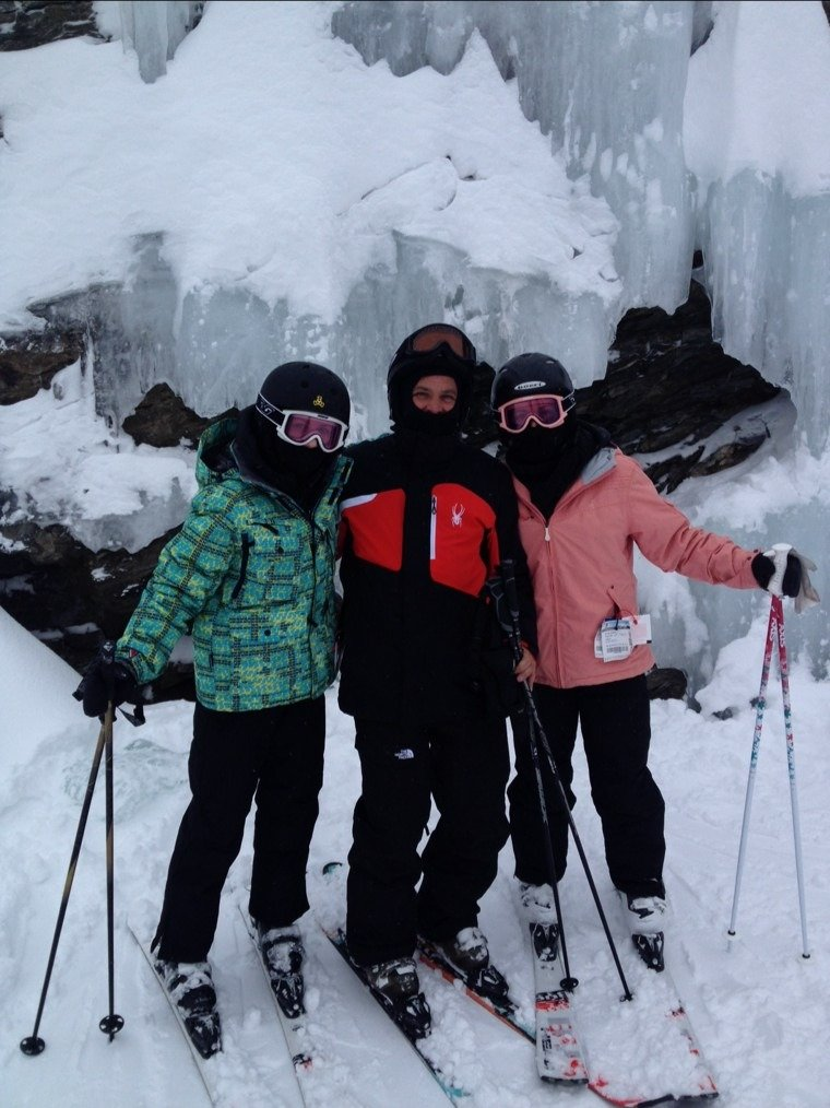 me and my girls skiing pres week conditions where great