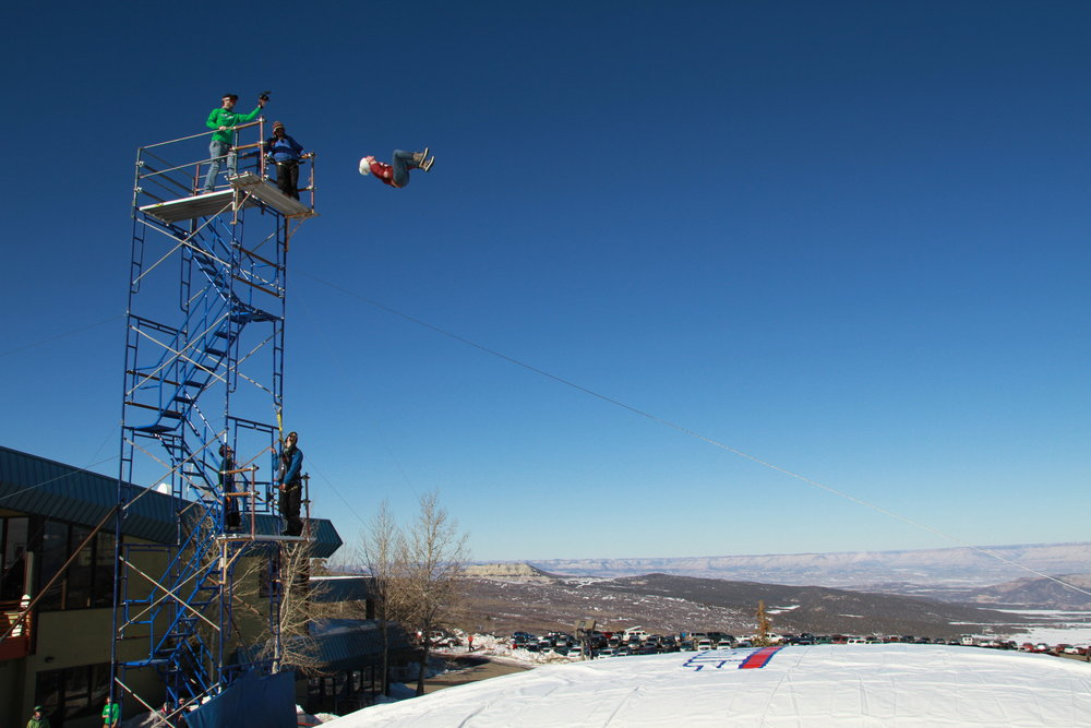 The Bag Jump is at the base of Powderhorn Mountain Resort. - ©Photo courtesy Powderhorn Mountain Resort.