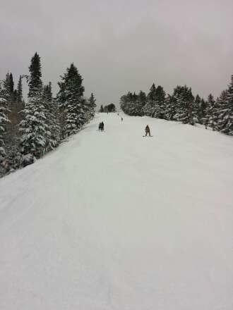 great day with lots of powder to be had, especially higher up on the mountain.