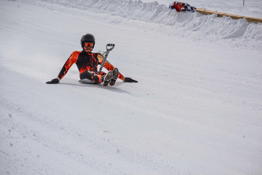 Wax your shovel. The annual Shovel Race Championship descends upon Angel Fire Resort in New Mexico. - ©Courtesy of Angel Fire Resort