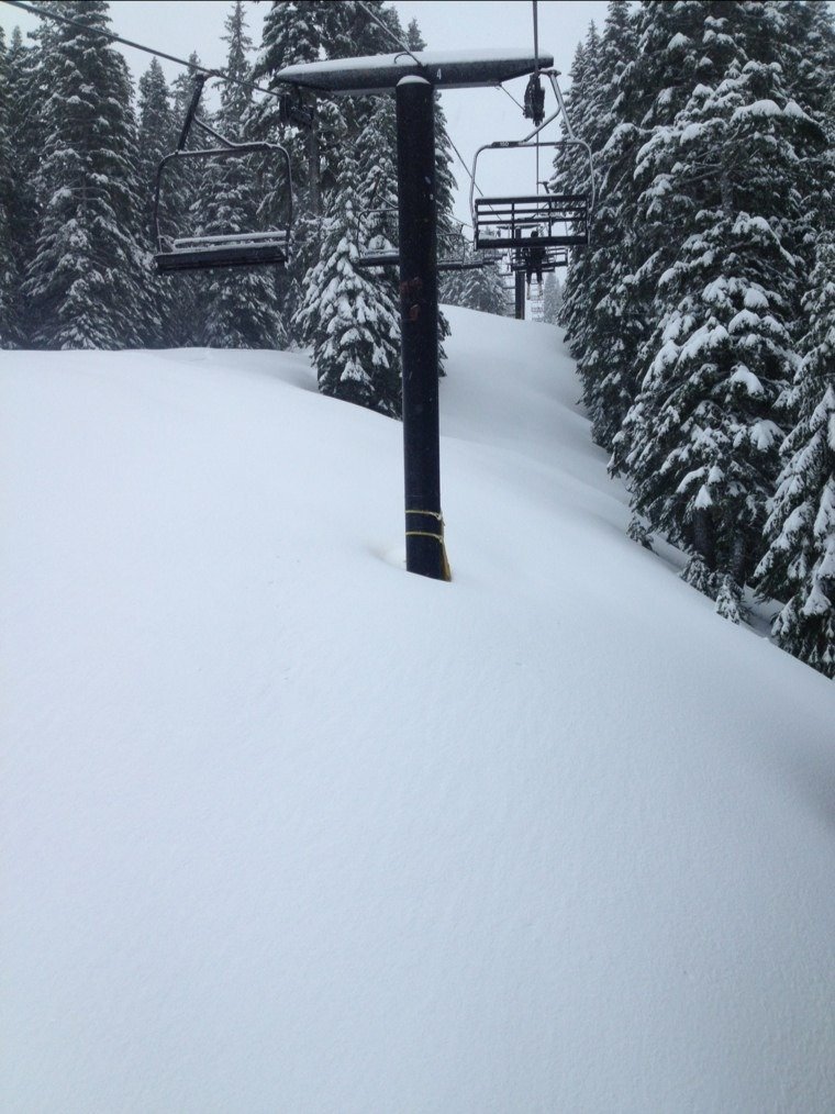 EPIC ... dry, sweet powder all day long and getting deep ... easily over a FOOT today!