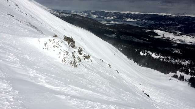 y chutes... awesome powder. had fresh lines...