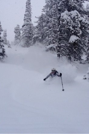 Hip. Champagne powder. Avalanche risk is high on CD