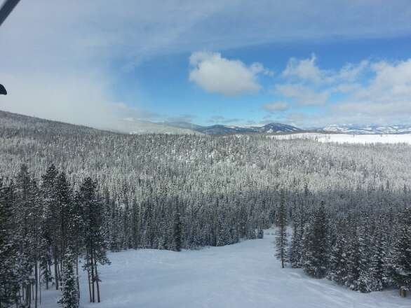 awesome day...lots of moguls out there,  but good snow and nice temps..