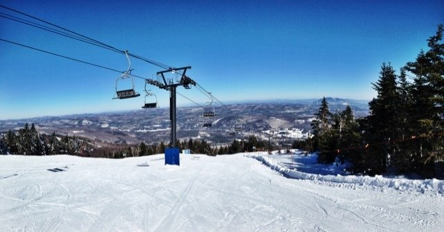 Such an awesome day, perfect weather and perfect skiing.