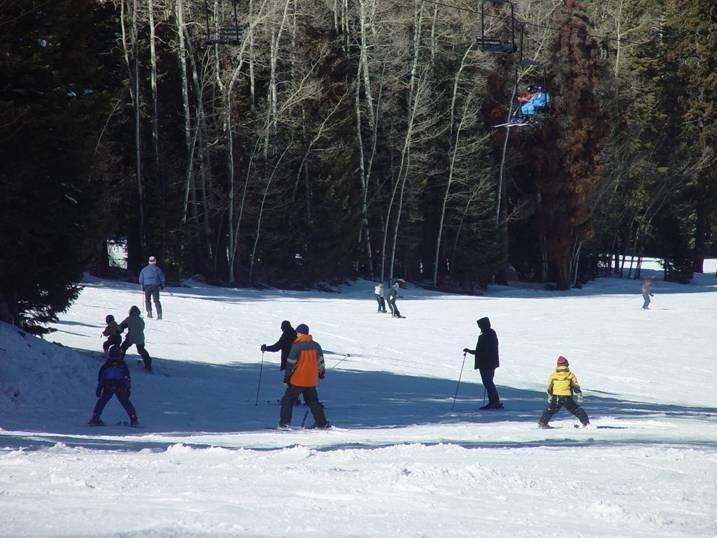 Ski lifts and slopes at Pajarito, NM