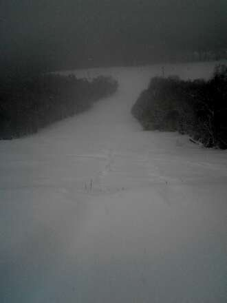 Lower Bobby's slid today. Nothing major but kind of cool. Ski the bumps on grit in the morning.