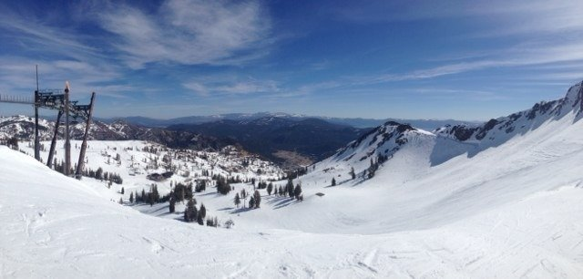 Great spring conditions at Squaw. Would love more snow, but oh well. Siberia is nice.