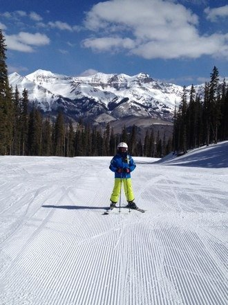 A beautiful day at Telluride. Great conditions all over the mountain. Skied over 21 miles today. Thanks Telluride!