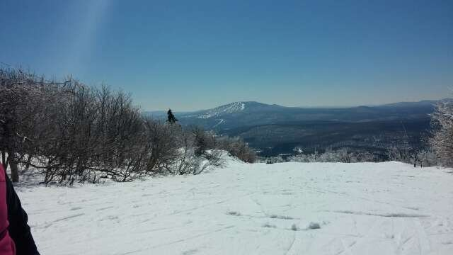 My 1st time for spring skiing & what a great day.