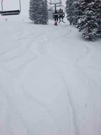 What happened at Loveland today can only be appreciated by those of us lucky enough to have been there. Deepest powder I have ever experienced. Chair 9 was heaven on earth