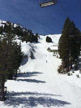 A little spring skiing on granite chief during the final week of the season