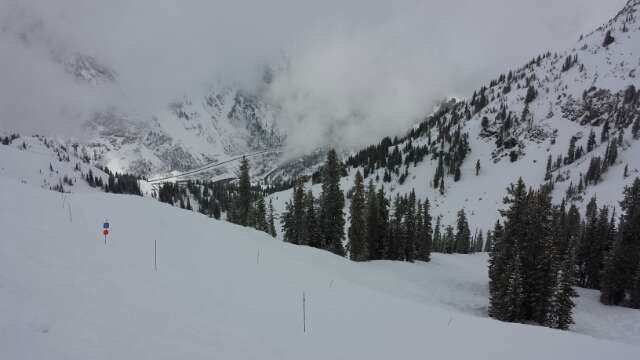 Amazing spring riding. First tracks in Peruvian Gulch was off the hook!