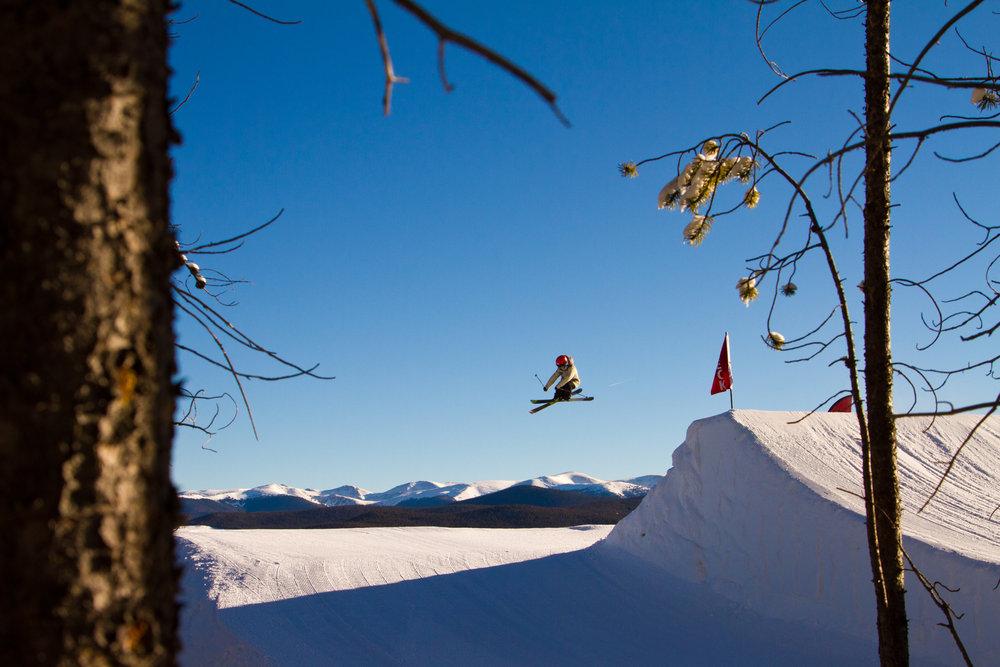 Park Lane jump line, Breck. - ©Breckenridge Ski Resort