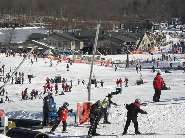 A busy day at Shawnee Mountain, PA.