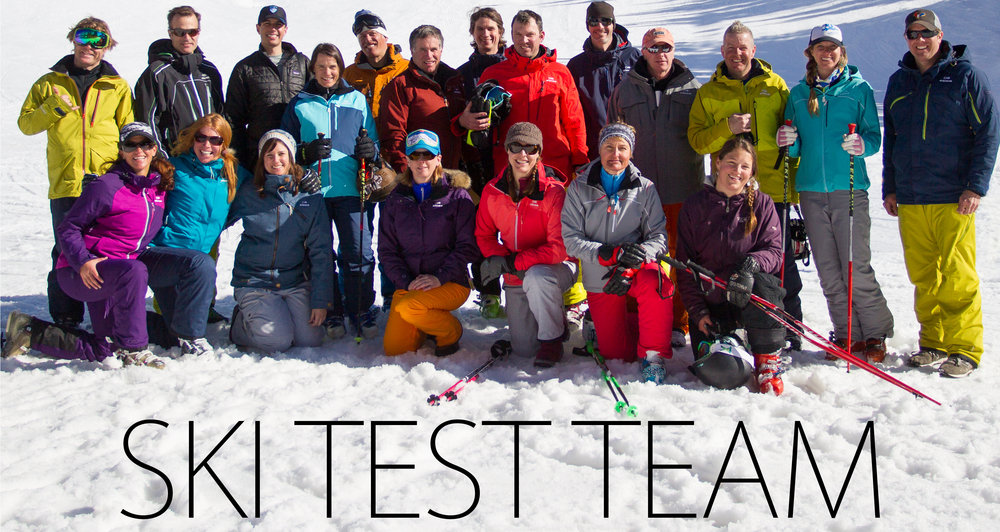 The 2014/15 OnTheSnow Ski Testers.