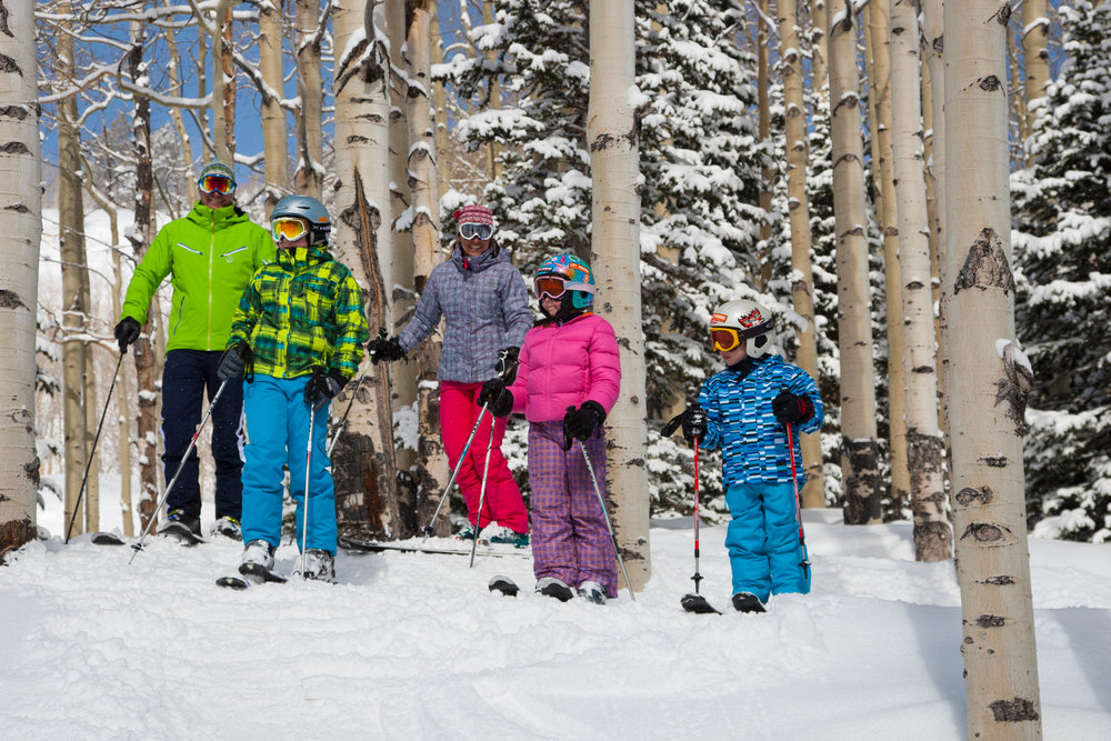 Family tree skiing at Deer Valley.
