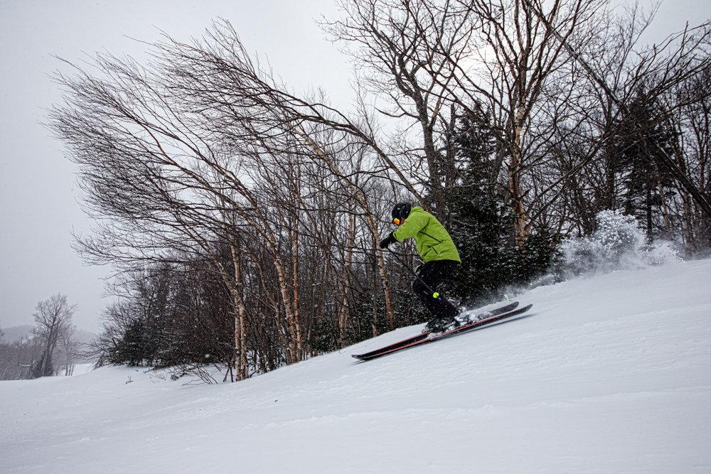 Great snow and wide open trails at Sugarbush, February 2014. - ©Liam Doran