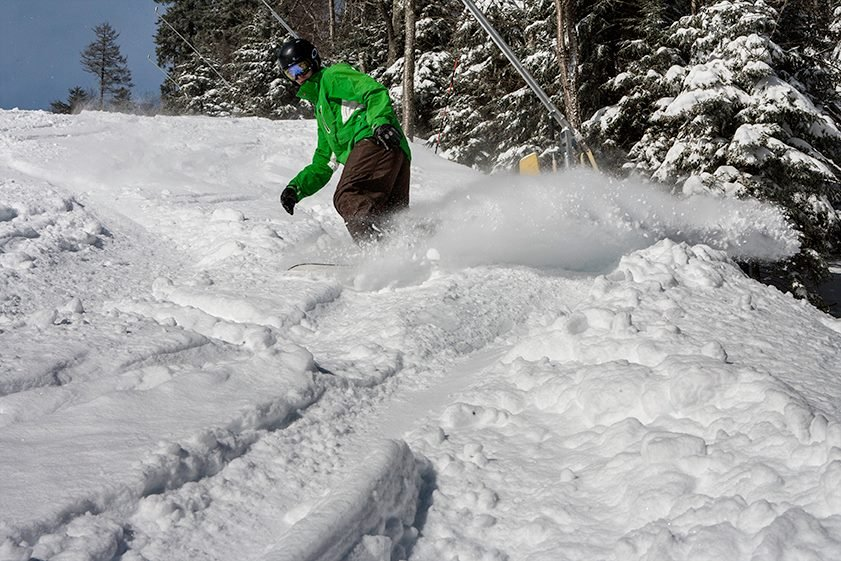 Powder days in March at Snowshoe.