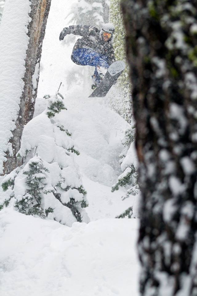 Jordan finding snow pillows in the trees. - ©Nathan Vetter