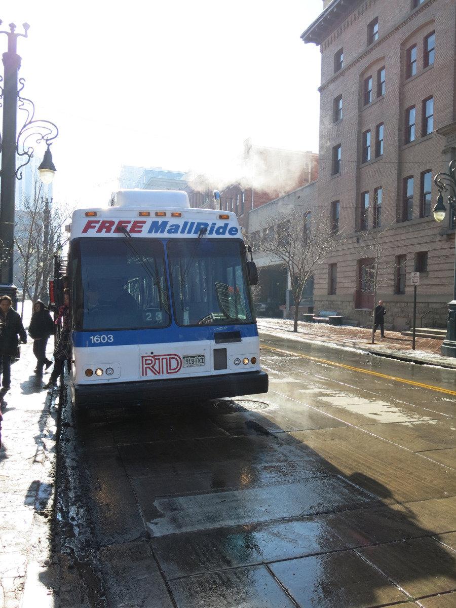 Taking the bus in Denver, Colorado - ©Micaela Romani