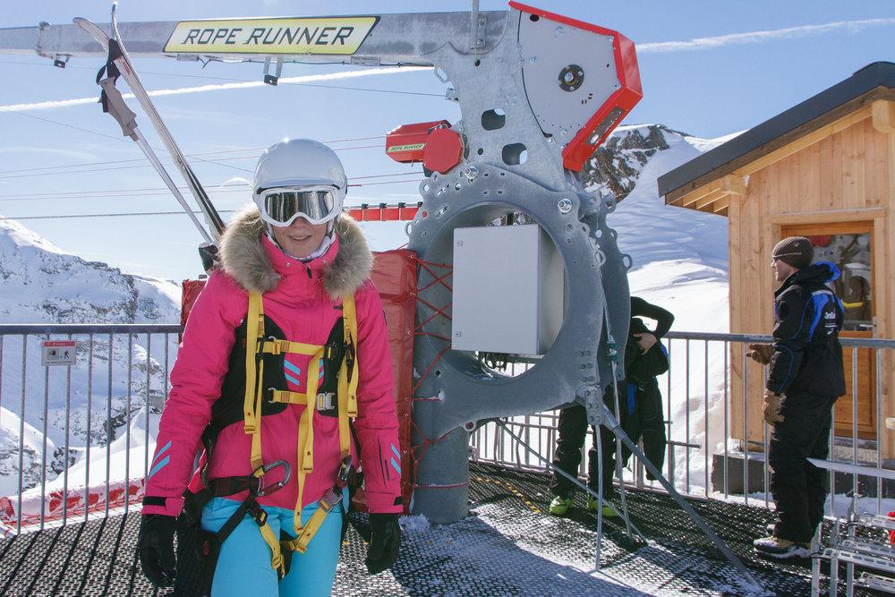 Appr hension l gitime au d part de la tyrolienne de val thorens skiinfo - Office de tourisme val thorens ...