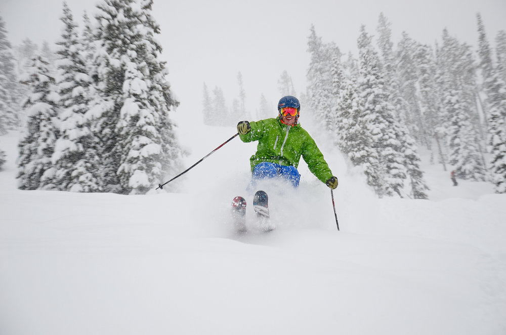 "Winter Park recently surpassed 347"", its historical average for snowfall in an entire season. - ©Sarah Wieck"