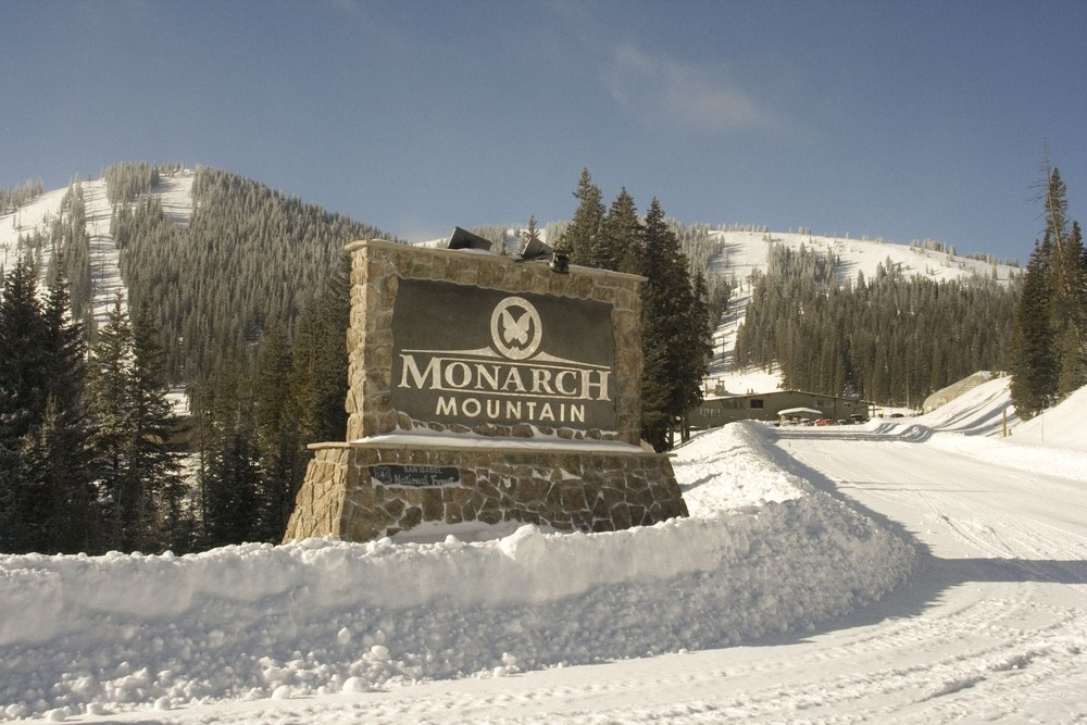 The sign out front at Monarch Mountain, CO.