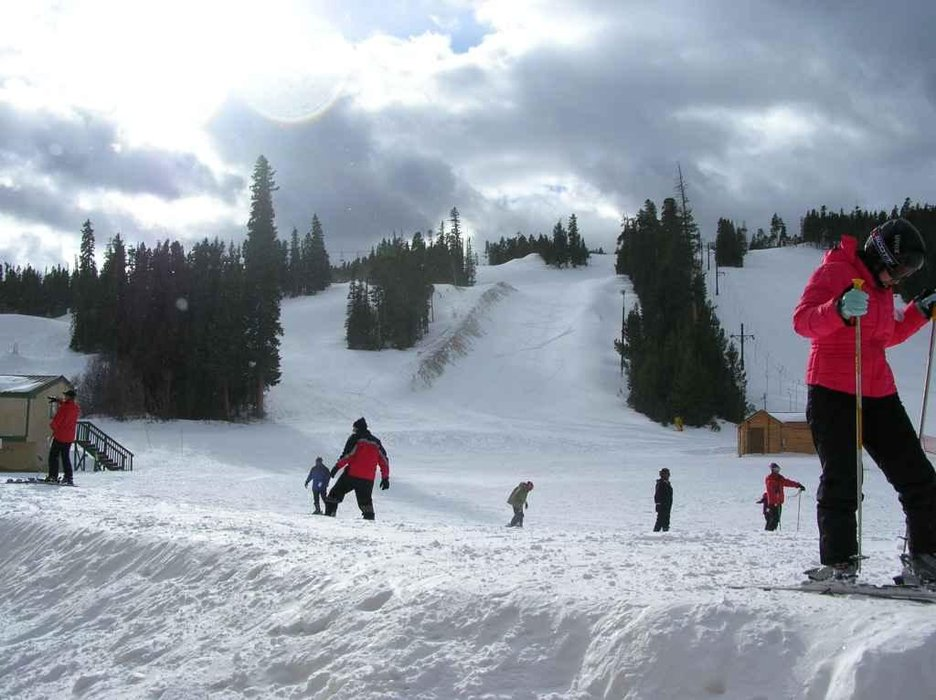 Skiers at Eldora, CO.