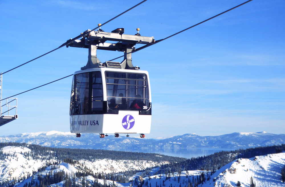 Squaw Valley's funitel lift. Photo by Nathan Kendall.
