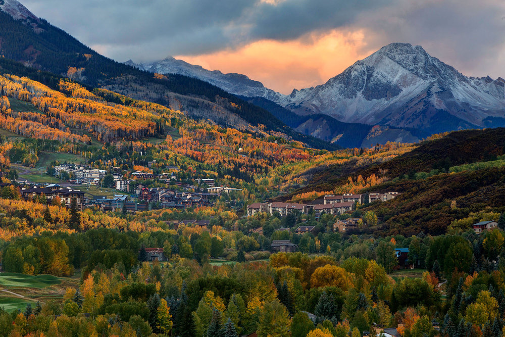 Snow makes its picturesque debut onto the Aspen/Snowmass scene for 14/15. - ©Jeremy Swanson