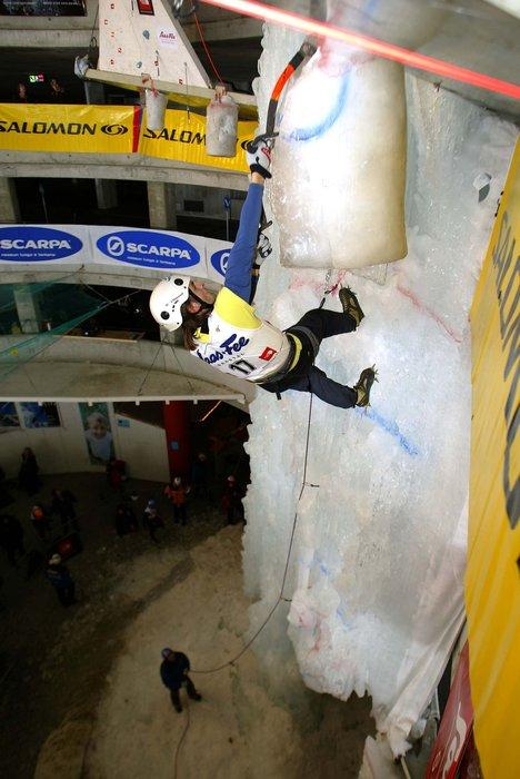 A climber at Saas Fee.