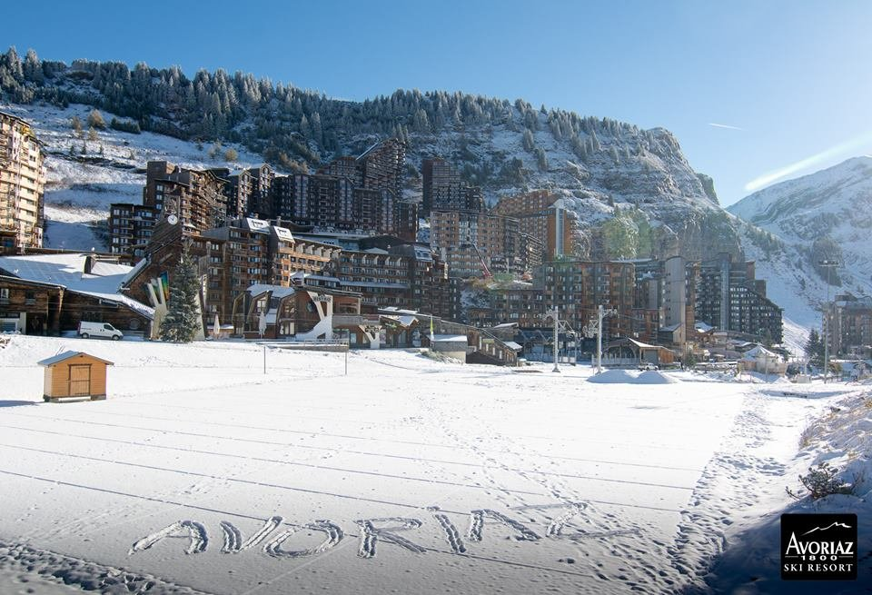 Fresh snow in Avoriaz Oct. 23, 2014 - ©Avoriaz