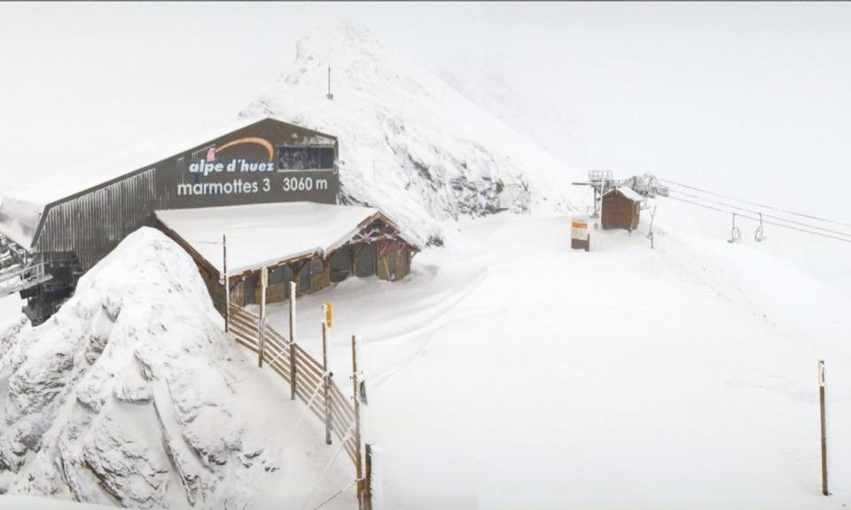 Alpe d'Huez (pic taken Nov. 12) is expecting 100cm of snow this weekend.  - ©Alpe d'Huez