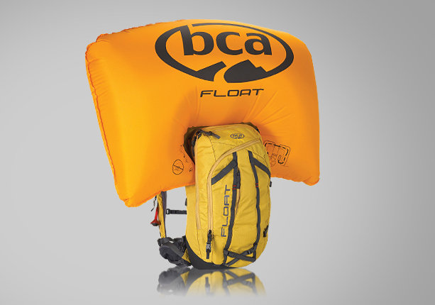 Sac ABS BCA Float : Système de déclenchement par cable et cartouche à air comprimé. Le sac en forme de