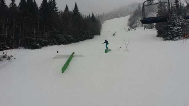 tremblant rocks right now lots of features snow is fast today was like spring ski it's great
